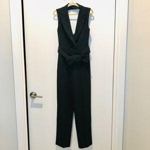 ASOS Petite US 2 tuxedo jumpsuit with cut out back
